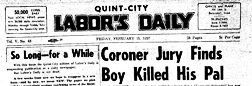 Prairie City Quint City Labor Day newspaper archives