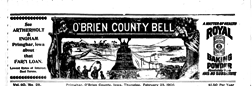 Obrien County Bell newspaper archives