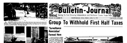 Independence Bulletin Journal Rock Valley Iowa newspaper archives