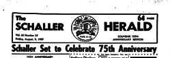 Schaller Herald newspaper archives