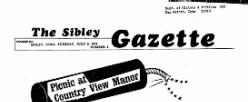 Sibley Gazette newspaper archives