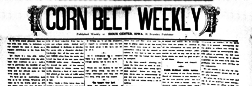 Sioux Center Corn Belt Weekly newspaper archives