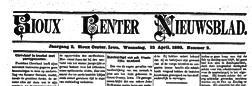Sioux Center Nieuwsblad newspaper archives