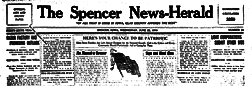 Spencer News Herald newspaper archives