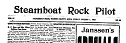 Steamboat Rock Pilot newspaper archives