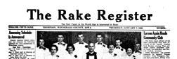 Rake Register Thompson Iowa newspaper archives