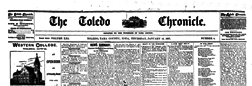 Toledo Chronicle newspaper archives