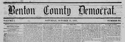 Benton County Democrat newspaper archives