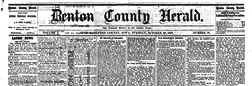 Benton County Herald newspaper archives