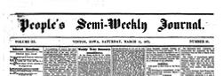 Vinton People Semi Weekly Journal newspaper archives