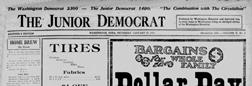 Washington Junior Democrat newspaper archives