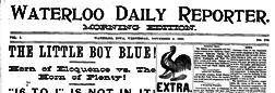 Waterloo Daily Reporter newspaper archives