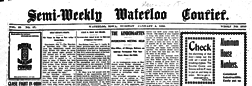 Waterloo Semi Weekly Courier newspaper archives