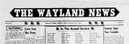 Wayland News newspaper archives
