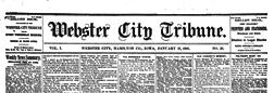 Webster City Tribune newspaper archives
