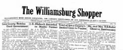 Williamsburg Shopper newspaper archives