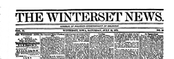 Winterset News newspaper archives