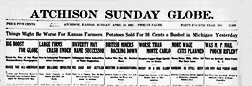 Atchison Sunday Globe newspaper archives