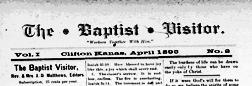 Belleville Baptist Visitor newspaper archives