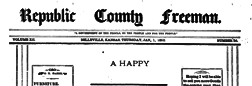 Belleville Republic County Freeman newspaper archives