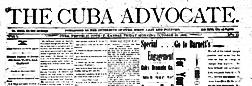 Cuba Advocate newspaper archives