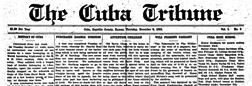 Cuba Tribune newspaper archives