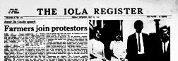 Iola Messenger newspaper archives