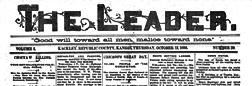 Kackley Leader newspaper archives