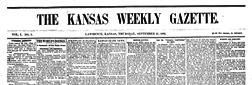Kansas Weekly Gazette newspaper archives