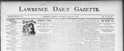 Lawrence Daily Gazette newspaper archives
