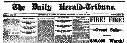 Lawrence Daily Herald Tribune newspaper archives
