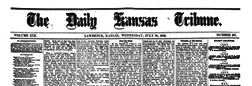 Lawrence Daily Kansas Tribune newspaper archives