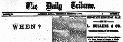 Lawrence Daily Tribune newspaper archives