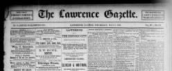 Lawrence Gazette newspaper archives