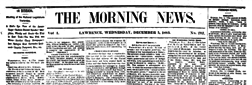 Lawrence Morning News newspaper archives
