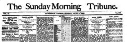 Lawrence Morning Tribune newspaper archives