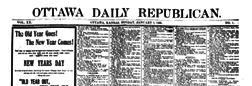 Ottawa Daily Republican newspaper archives