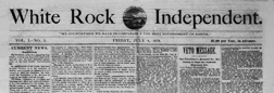 Warwick White Rock Independent newspaper archives