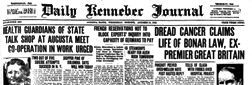 Daily Kennebec Journal newspaper archives
