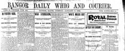 Bangor Daily Whig And Courier newspaper archives