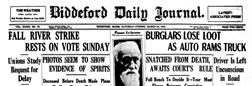 Biddeford Journal newspaper archives
