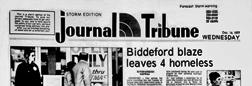 Biddeford Storm Edition Journal Tribune newspaper archives