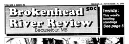 Beausejour Brokenhead River Review newspaper archives
