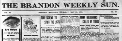 Brandon Weekly Sun newspaper archives