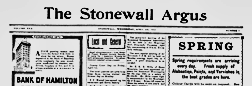 Stonewall Argus newspaper archives