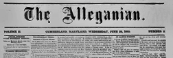 Cumberland Alleganian newspaper archives