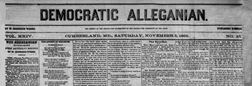 Cumberland Democratic Alleganian newspaper archives