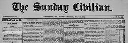 Cumberland Sunday Civilian newspaper archives