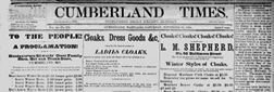 Cumberland Times newspaper archives