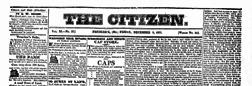 Frederick Citizen newspaper archives
